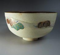 【茶道具買取】三代矢口永寿 作 色絵蔦画茶碗 買取しました。