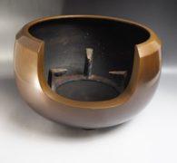 【茶道具買取】金森昭栄造 唐銅風炉 買取しました。