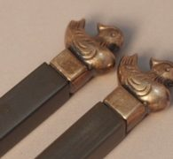 【茶道具買取】木村 清雲 作 南鐐鳥頭火箸買取しました。