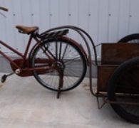 【古道具】リアカー付き レトロ自転車買取しました。