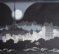 関野準一郎 木版画 買取しました。