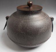 【茶道具】高橋敬典作 真形桐地紋釜買取しました。