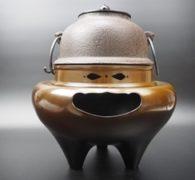【茶道具買取】高橋敬典作 唐銅朝鮮風炉 真形釜添 買取しました。