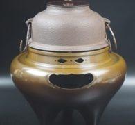 【茶道具買取】 山本閑浄作 唐銅朝鮮風炉釜 買取しました。