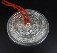 【古道具】純銀製 鴛鴦文様古鏡文鎮 買取しました。